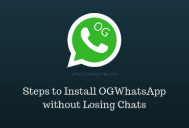 steps to install ogwhatsapp without losing chats