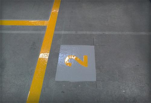 Shot Blast Line Marking