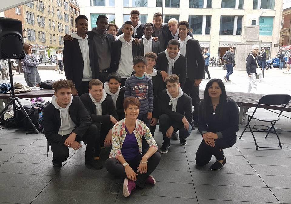 Autism Flash Mob trio gives London a shocker during Big Dance week 2016