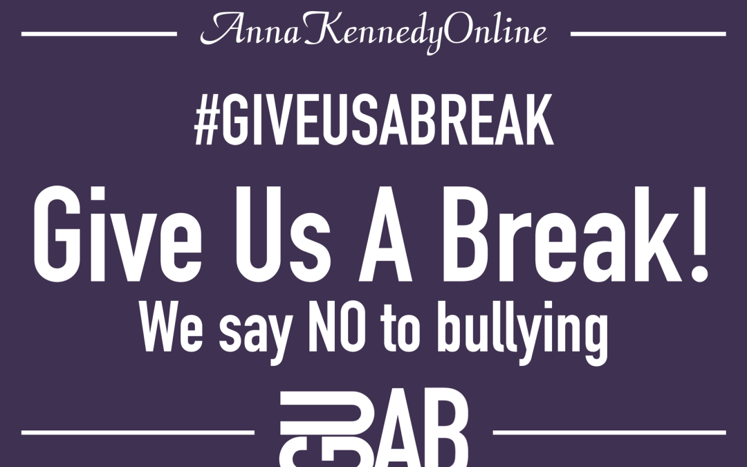 Anna Kennedy Online: Our Give Us A Break campaign – 2019