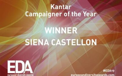 Congratulations to Siena for winning Campaigner of the Year at the European Diversity Awards