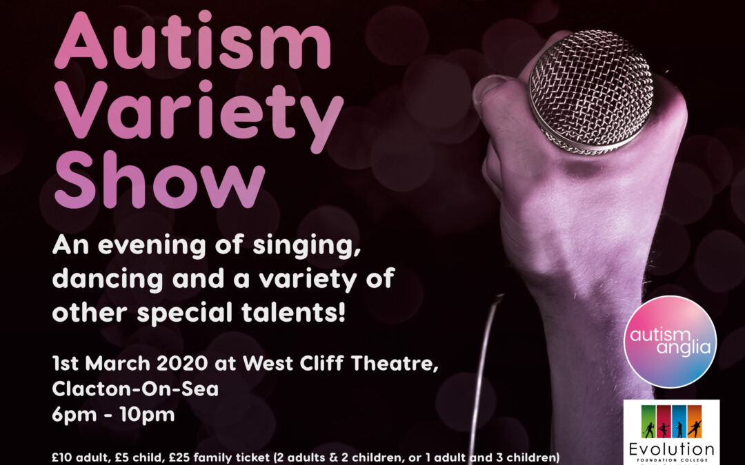 Celebration of Autistic talent coming to Clacton – 1st March 2020