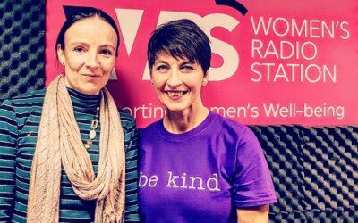 Anna's guest on Women's Radio – Cathy Harpham