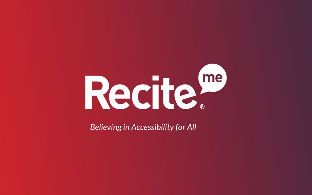 Accessible website – our partnership with Recite Me