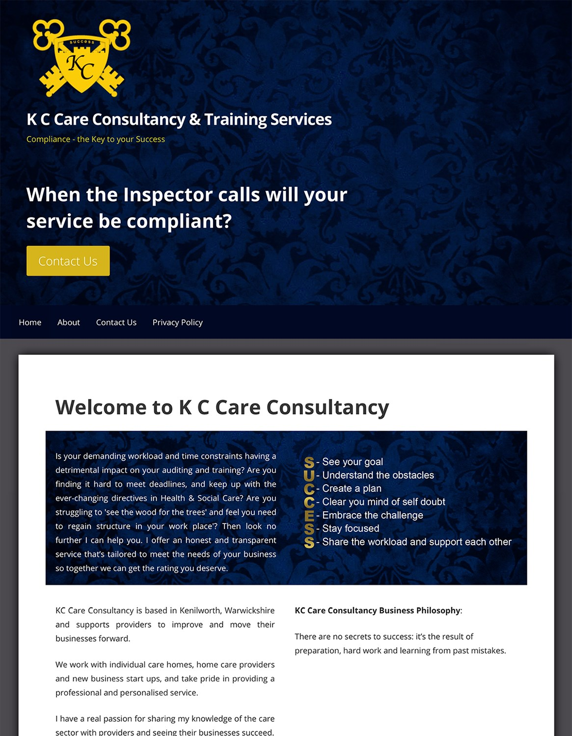 KC Care Consultancy & Training Services Kenilworth Warwickshire