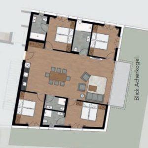 4-slaapkamer appartement
