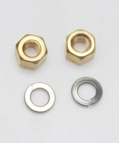 brass nut and washer
