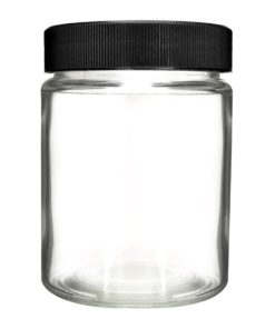Glass Jar black Screw Lids