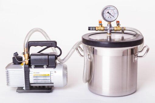18L Vacuum Degassing Chamber Pump Kit