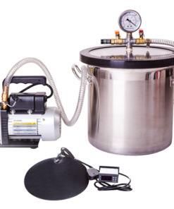 5L Stainless Steel Vacuum Chamber, Heat Mat & Pump Kit