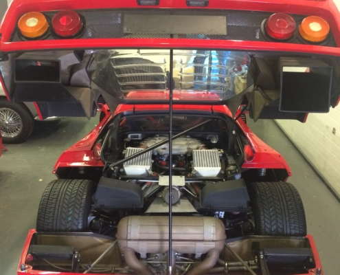 F40 in for major service..