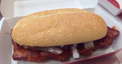McDonald's McRib UK 2014