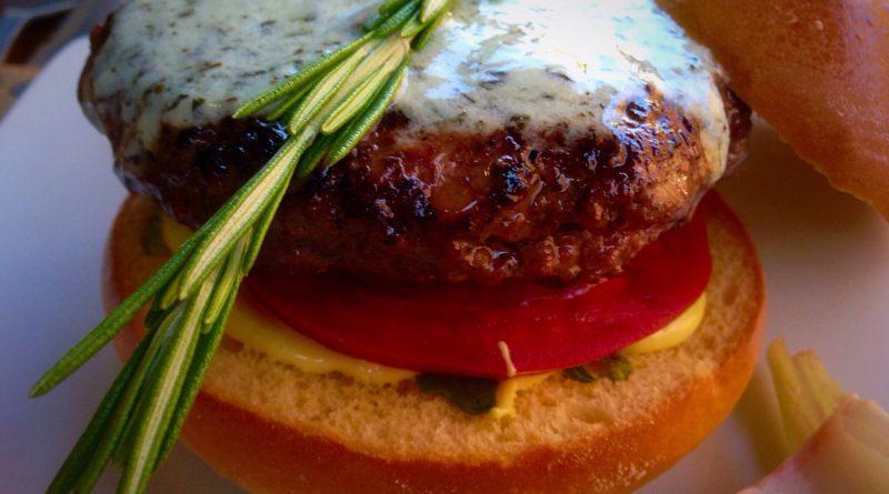 Hache Burgers Rosemary Lamb Burger