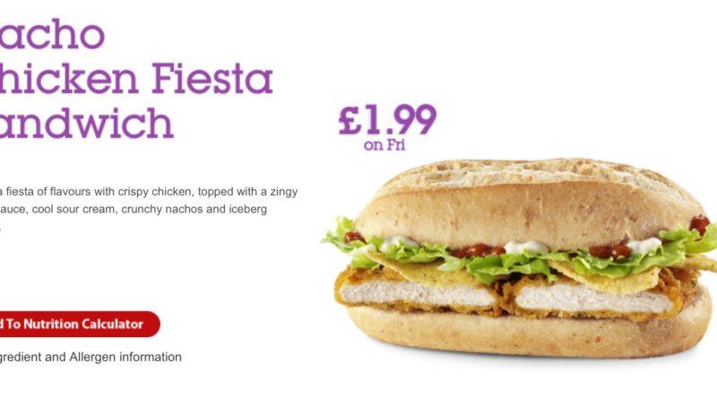 McDonald's Nacho Chicken Fiesta Sandwich