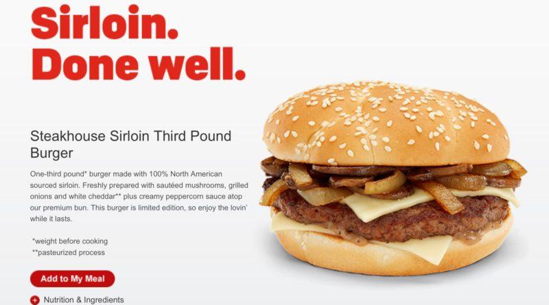 McDonald's Steakhouse Sirloin