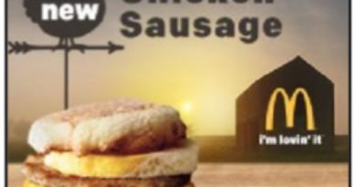 McDonald's Chicken Sausage McMuffin