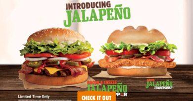 Burger King Bacon & Cheese Jalapeno Whopper