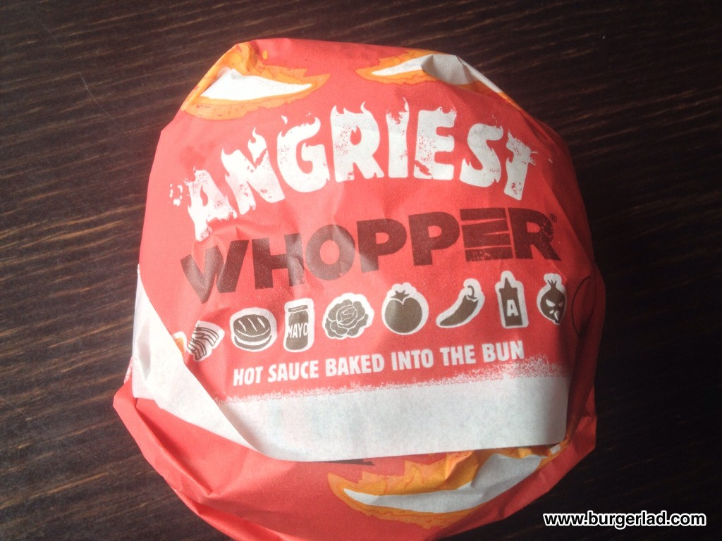 Burger King Angriest Whopper UK