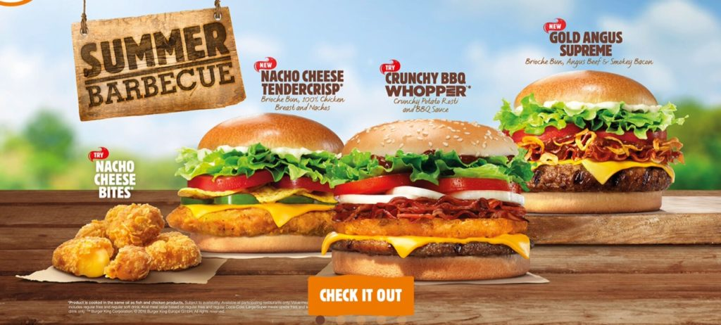 Burger King Summer Barbecue 2016