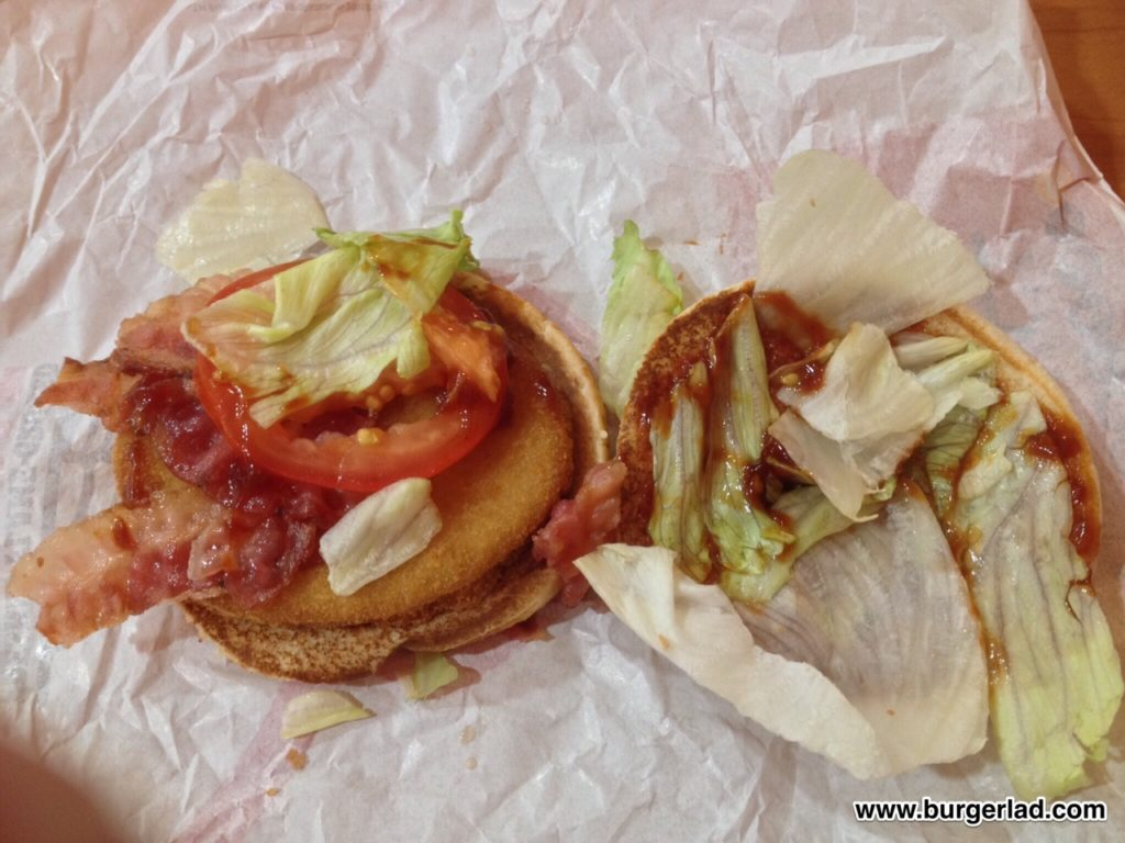Burger King BLT BBQ King Chicken