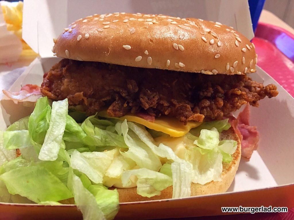 KFC Bacon & Cheese Burger
