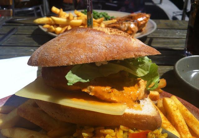 Nando's Chicken Breast Burger