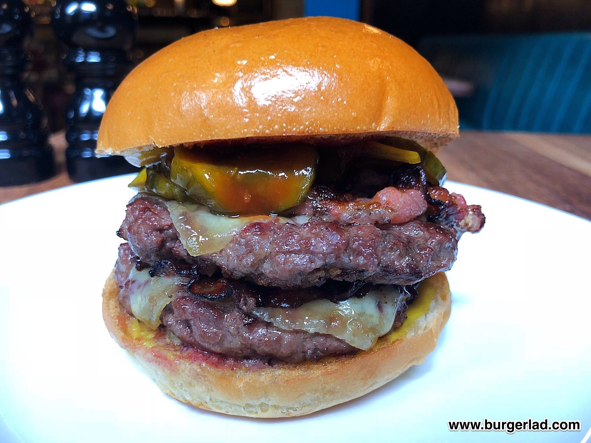 Hawksmoor Bacon Double Cheese Burger