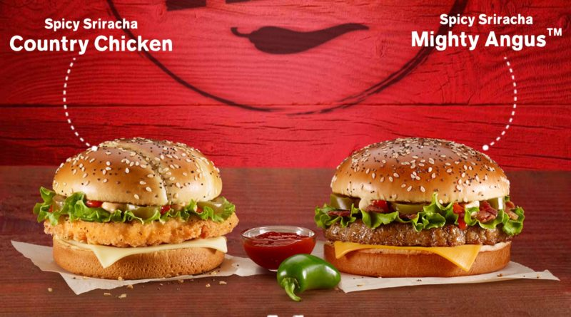 McDonald's Spicy Sriracha Mighty Angus