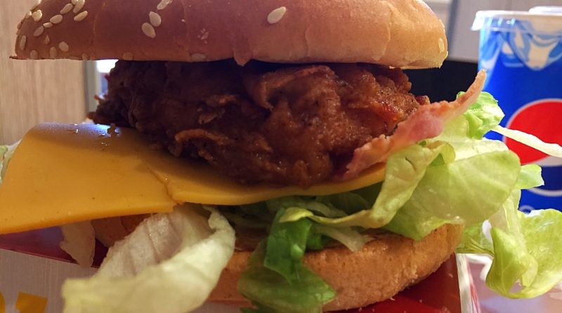 KFC Bacon and Cheese Burger