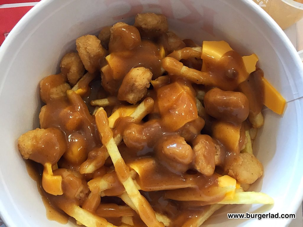 KFC Popcorn Chicken Poutine