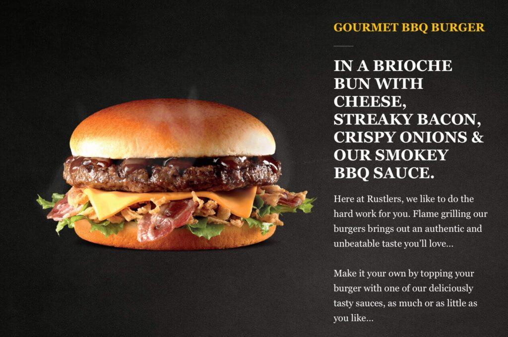 Rustlers Gourmet BBQ Burger