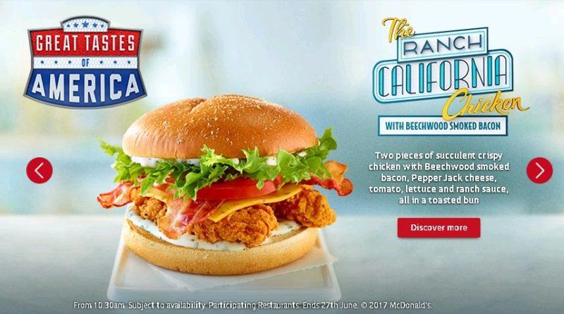 McDonald's Ranch California Chicken