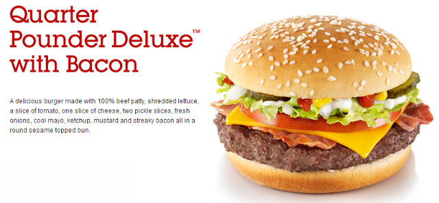 McDonald's Quarter Pounder Deluxe with Bacon