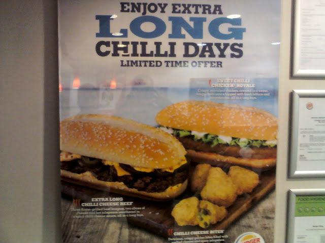 Burger King Extra Long Chilli Cheese Beef