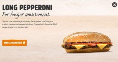 Burger King Long Pepperoni