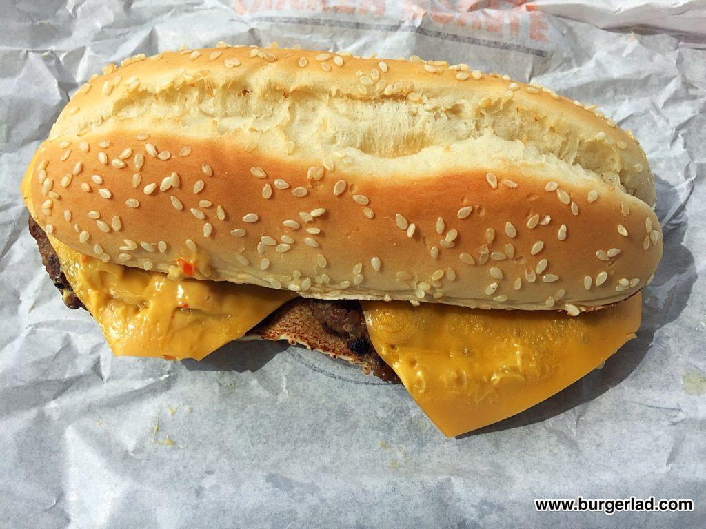 Burger King Long Chilli Cheese Burger