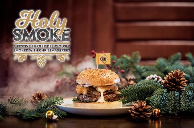 GBK Holy Smoke Christmas Burger
