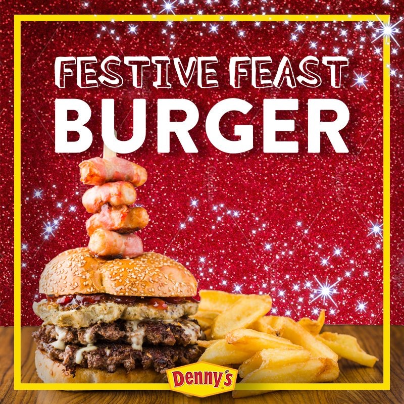 Denny's Christmas Burger
