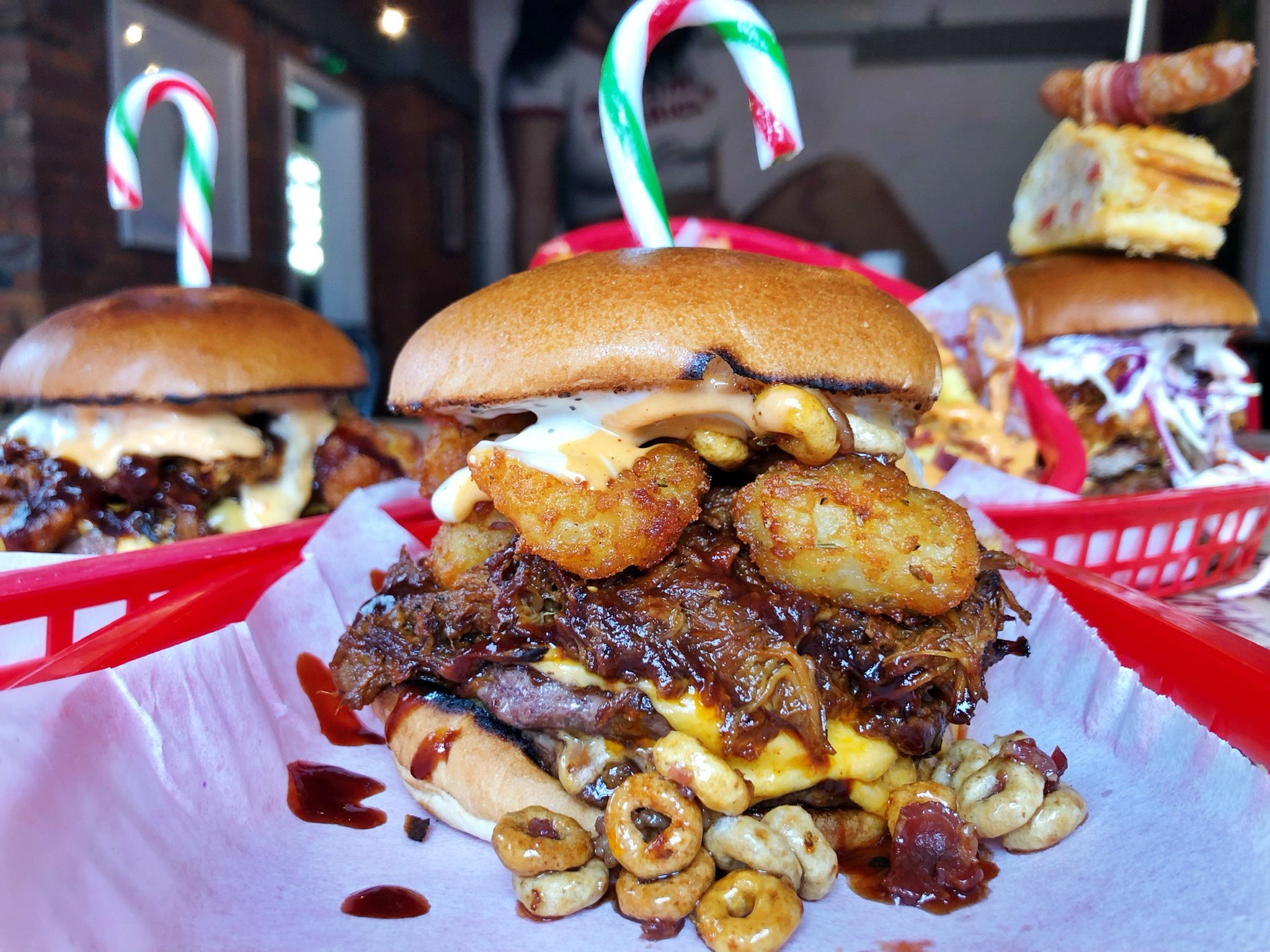 Almost Famous Christmas Burger