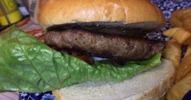 Wetherspoon Hardys Shiraz & Mushroom Beef Burger