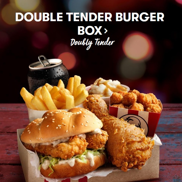 KFC Australia Double Tender Burger Box