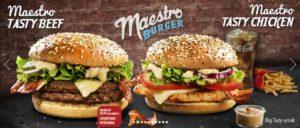 McDonald's Maestro Burgers - Croatia - Tasty Beef & Tasty Chicken