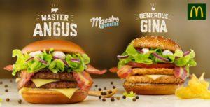 McDonald's Maestro Burgers - Malta - Master Angus & Generous Gina