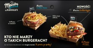 McDonald's Maestro Burgers - Poland - Grilled Veggies