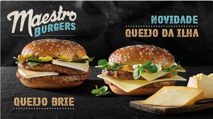 McDonald's Maestro Burgers - Portugal - Queijo Brie & Queijo Da Ilha