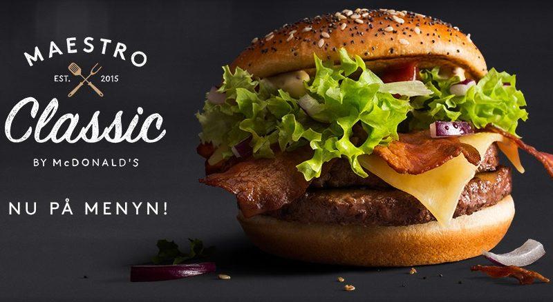McDonald's Maestro Burgers - Sweden - Classic