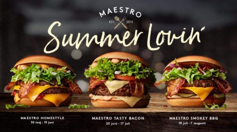 McDonald's Maestro Burgers - Sweden Maestro Summer Lovin'