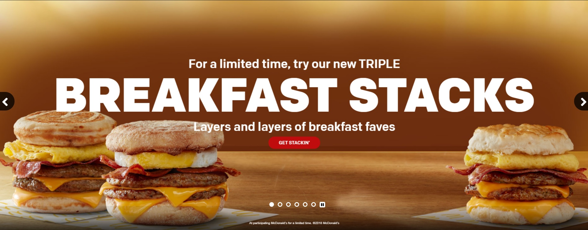 McDonald's Triple Breakfast Stacks UK