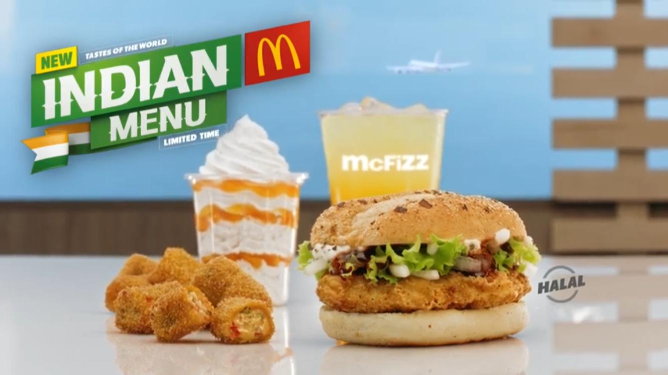 McDonald's UAE - Tastes of the World - Indian Menu