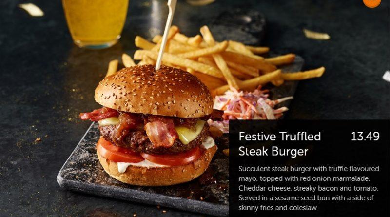 Beefeater Festive Truffled Steak Burger
